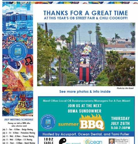 Ocean Beach MainStreet Association Newsletter July 2018