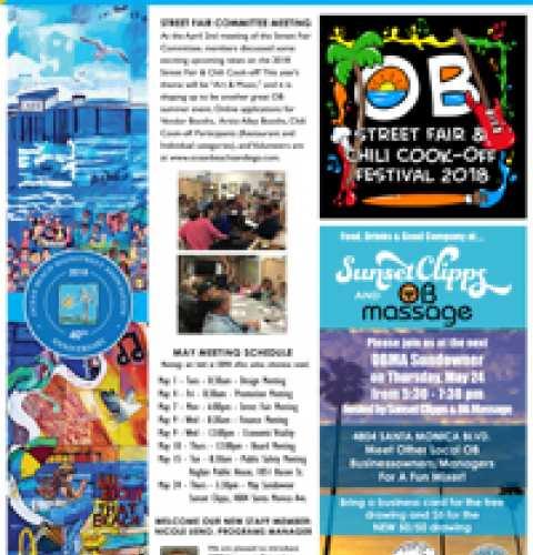 Ocean Beach MainStreet Association Newsletter May 2018