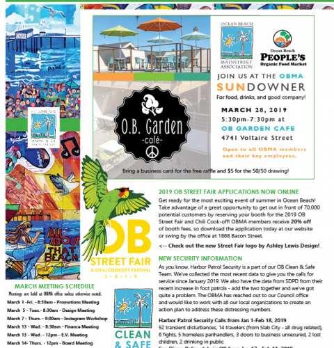 Ocean Beach MainStreet Association Newsletter March 2019