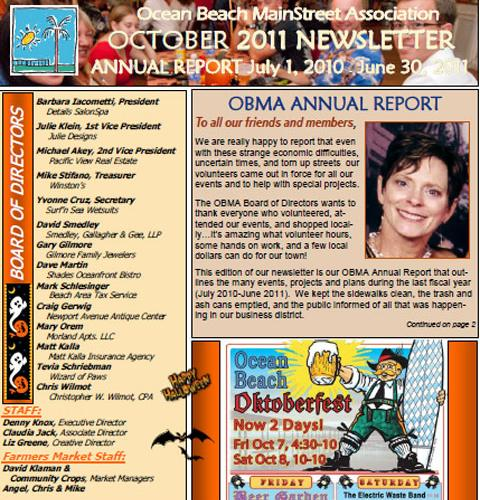 Ocean Beach MainStreet Association Newsletter September 2011