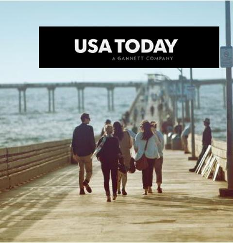 Photo of: OB Pier in USA Today press coverage
