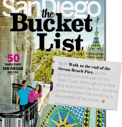 Photo of: San Diego Magazine Bucket List Issue