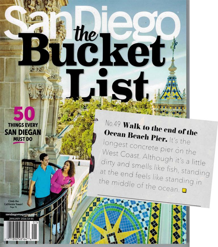 San Diego Magazine Bucket List Issue