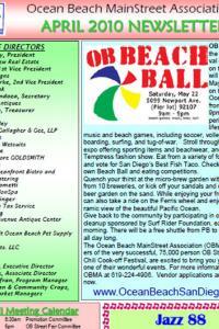 Ocean Beach MainStreet Association April 2010 Newsletter