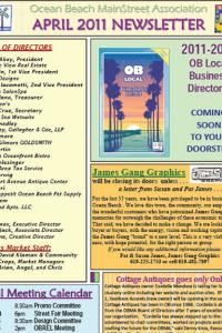 Ocean Beach MainStreet Association April 2011 Newsletter