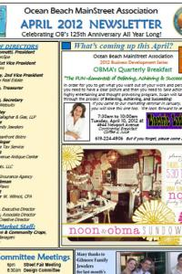 Ocean Beach MainStreet Association April 2012 Newsletter