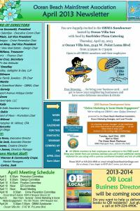Ocean Beach MainStreet Association April 2013 Newsletter