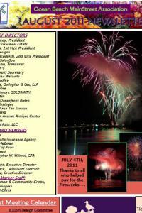 Ocean Beach Mainstreet Association August 2011 Newsletter