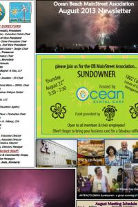 Ocean Beach MainStreet Association August 2013 Newsletter