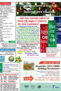 Ocean Beach MainStreet Association December 2014 Newsletter