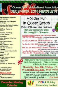 Ocean Beach MainStreet Association December 2011 Newsletter