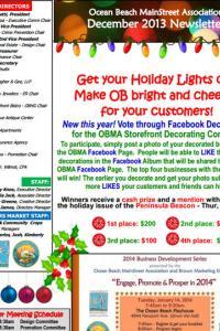 Ocean Beach MainStreet Association December 2013 Newsletter