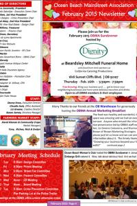 Ocean Beach MainStreet Association February 2015 Newsletter