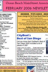 Ocean Beach MainStreet Association February 2006 Newsletter