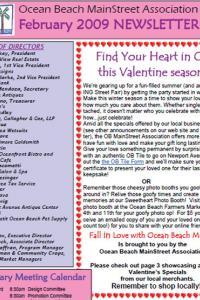 Ocean Beach MainStreet Association Newsletter January 2009