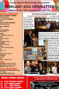 Ocean Beach MainStreet Association February 2012 Newsletter