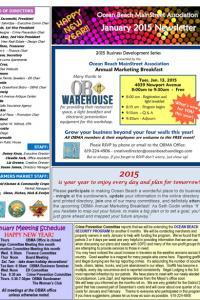 January 2015 Ocean Beach MainStreet Association  Newsletter