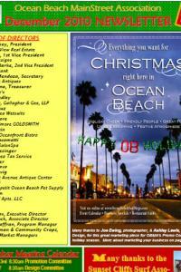Ocean Beach MainStreet Association January 2010 Newsletter