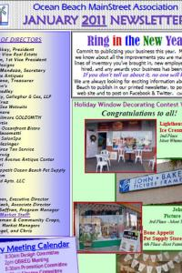 Ocean Beach MainStreet Association January 2011 Newsletter