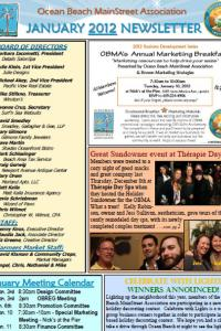 Ocean Beach MainStreet Association January 2012 Newsletter
