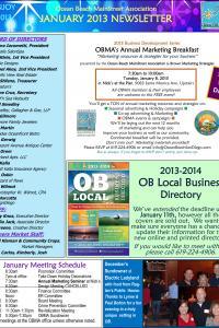 Ocean Beach MainStreet Association January 2013 Newsletter