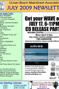 Ocean Beach MainStreet Association July 2009 Newsletter