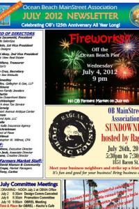 Ocean Beach MainStreet Association July 2012 Newsletter