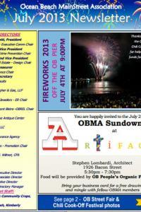 Ocean Beach MainStreet Association July 2013 Newsletter