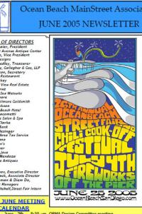 Ocean Beach MainStreet Association June 2005 Newsletter