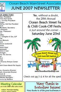 Ocean Beach MainStreet Association June 2007 Newsletter