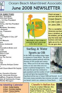Ocean Beach MainStreet Association June 2008 Newsletter