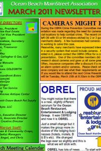 Ocean Beach MainStreet Association March 2011 Newsletter