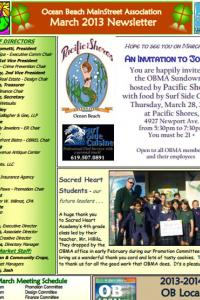 Ocean Beach MainStreet Association March 2013 Newsletter