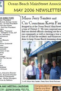 Ocean Beach MainStreet Association May 2006 Newsletter