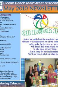 Ocean Beach MainStreet Association May 2010 Newsletter