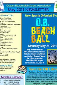 Ocean Beach MainStreet Association May 2011 Newsletter