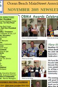 Ocean Beach MainStreet Association November 2005 Newsletter