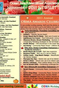 Ocean Beach MainStreet Association November 2011 Newsletter
