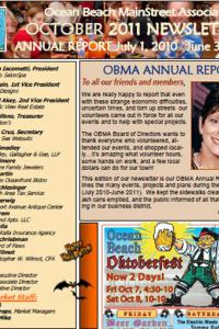 Ocean Beach MainStreet Association October 2011 Newsletter