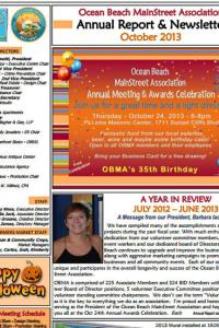 Ocean Beach MainStreet Association October 2013 Newsletter