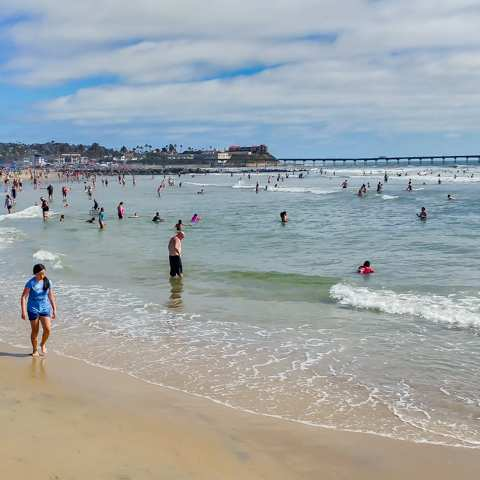 Voltaire Avenue Beach Ocean Beach San Diego California
