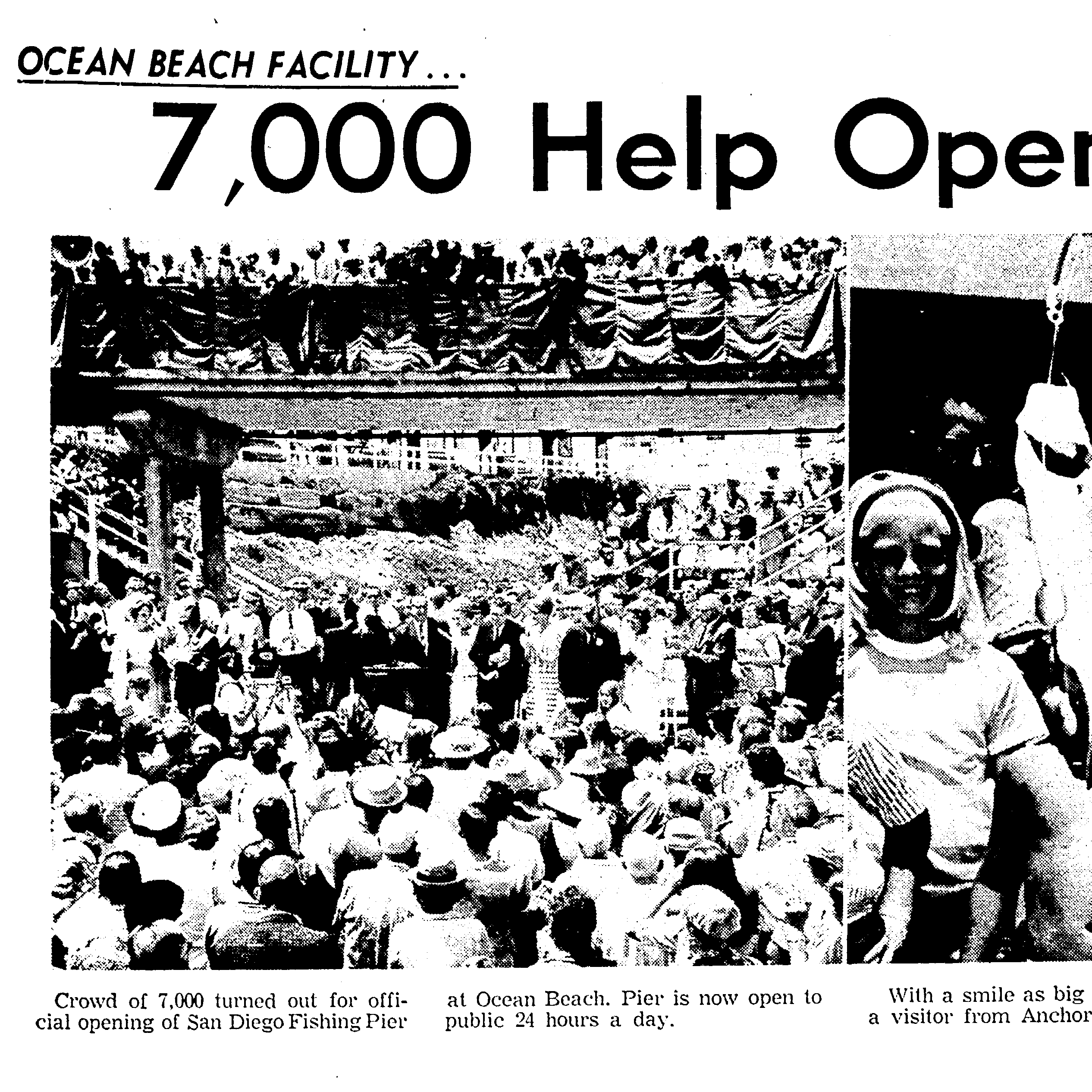 San Diego Union Coverage of 1966 Pier Opening