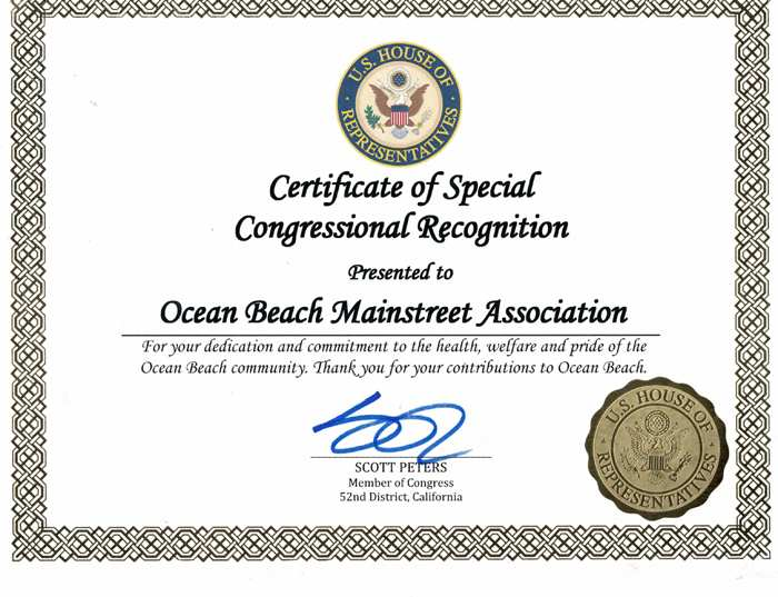 Ocean Beach MainStreet Association Awards