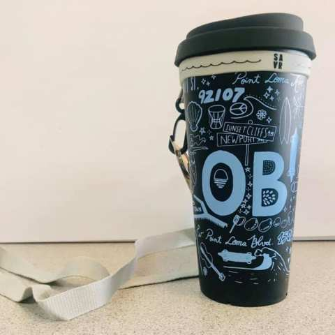Ocean Beach Product: 100% Recycled Reusable Cup