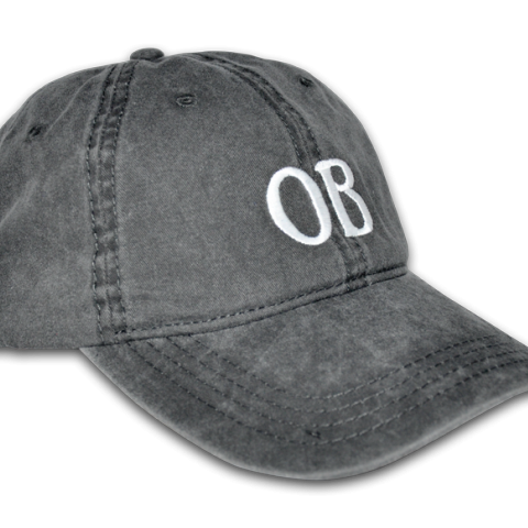 Ocean Beach Product: OB Ballcap, Charcoal Gray