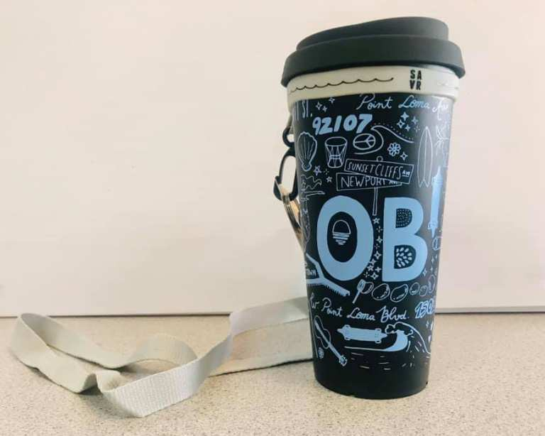 Ocean Beach Product: 100% Recycled Reuseable Cup