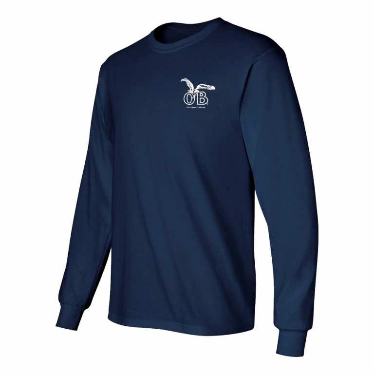 Ocean Beach Product: OB Seagull Longsleeve T-Shirt (navy)