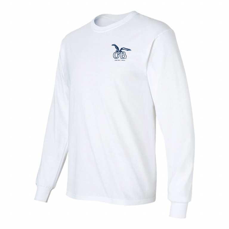Ocean Beach Product: OB Seagull Longsleeve T-Shirt (white)